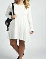 boohoo Long Sleeve Swing Dress - cream pzz99732 Look to this long sleeve swing dress as the genius wear- with-anything jersey piece. Layer over an oversized denim jacket , step out in chunky boots and add a pastel nail polish . http://www.comparestoreprices.co.uk/dresses/boohoo-long-sleeve-swing-dress--cream-pzz99732.asp