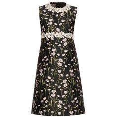 Giambattista Valli Daisies-embroidered sleeveless twill dress