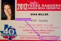 14 Things You Need To Know If You Want A Career In Sports Media: NEVER ask for an autograph! | Read more on TheGinaMiler.com