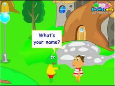 What's your name?, Self-introduction Lesson, English for Children - YouTube
