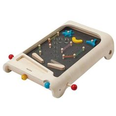 A beautiful wooden version of pinball for your kids! - age : from 3 years old - fabrics : recycled rubber tree wood - x 11 x cm. Flipper Pinball, Pinball Games, Plan Toys, Rubber Tree, Eco Friendly Toys, Recycled Rubber, Recycled Wood, Wood Tree, Wooden Pegs