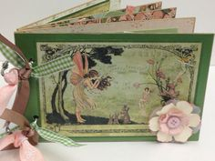 Premade Scrapbook happiness fantasy once upon a springtime fairies graphic 45 dream on Etsy, $30.00