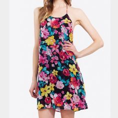 Sugarlips Backless Floral Dress Size Small