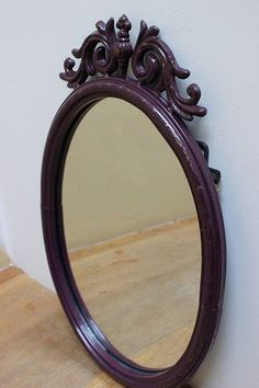 aubergine baroque mirror by the forest & co | notonthehighstreet.com
