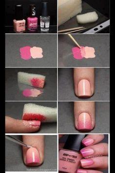 Cute umbrae nails