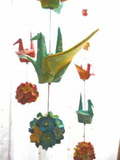 折り鶴 のつるし飾り(三連) - ✽yukako✽