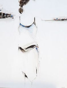 """Un dernier regard"", Oil on canvas by #artist Lucille Marcotte, at #Gallery Saint-Dizier"