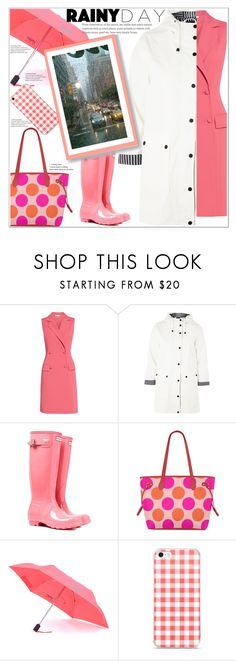 """""""The Rain Can't Stop Her"""" by atelier-briella ❤ liked on Polyvore featuring Gina Bacconi, Topshop, Kipling, coral, PolkaDots, rainyday, gingham and totebag"""