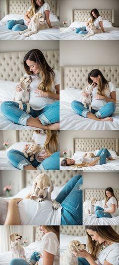 Para ensaios em casa os tons neutros e claros são sempre as melhores opções. Jeans e branco é clássico !