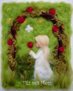 Rosenzauber von Filz mit Herz