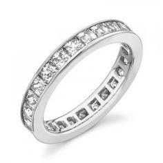 Ravishing 2.00 Carat Eternity Princess cut Diamond Wedding Band