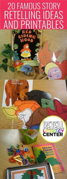 20 famous story retelling ideas and printables for kindergarten - I love these... I could easily make these a literacy center that'd last the whole year