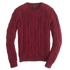 Chunky cotton cable sweater
