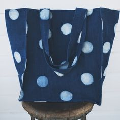 Indigo Dot Tote by Proud Mary