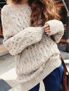 Cute over-sized sweater for winter... click on pic for more