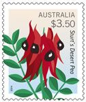 Sturt's Desert Pea Australian Flowers, Australian Plants, Flower Stamp, Stamp Collecting, Postage Stamps, South Australia, Butterflies, Coins, Country