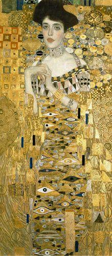 Gustav Klimt - Portrait of Adele Bloch-Bauer l (Detail)