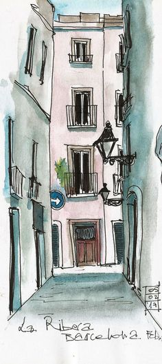 Urban sketching el Born