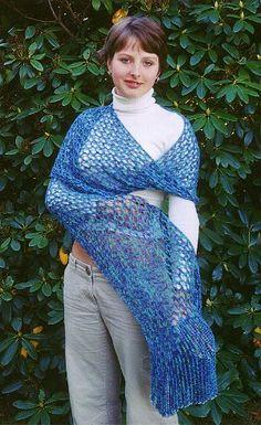 Ravelled Rib Stitch Shawl | AllFreeKnitting.com  http://www.allfreeknitting.com/Knit-Shawls/ravelled-rib-stitch-shawl/ml/1