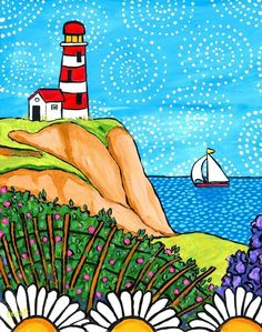 Rose Lighthouse Nova Scotia Print by AliceinParis