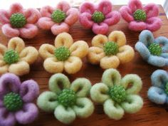 Pastel colored daisies by woolly  fabulous, via Flickr