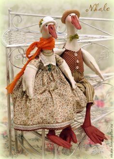 Коллекционные куклы ручной работы. Ярмарка Мастеров - ручная работа Гуси-гуси, га-га-га!. Handmade.