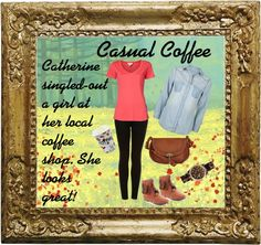 """""""Causal Coffee"""" by cbslifestylist on Polyvore"""