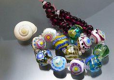 Melanie Moertel Lampwork Beads  Colorful glass by melaniemoertel, $164.00