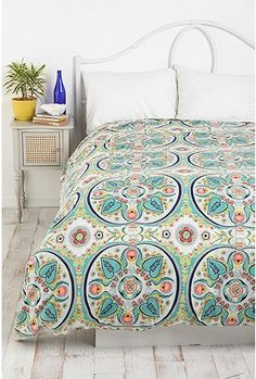 $89 - UrbanOutfitters.com > Painted Medallions Duvet Cover