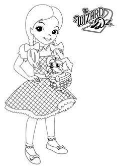The Wizard of Oz, : Dorothy from the Wizard of Oz Coloring Page