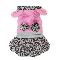 Adorable Leopard Pink Dog Coat Dog Dress Dog Hoodie Jacket Soft Comfy Pet Cat Dog Clothes Free Shipping,#12 « Pet Lovers Ads