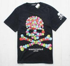 New Mastermind Japan 【Color Skull】 Graphic Tee Cotton T Shirt 3 Sz Black Color   eBay