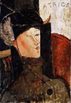 Amedeo Modigliani - Portrait of Beatrice Hastings 1916 Expresionismo retrato óleo, canvas Barnes Foundation -