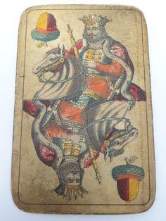 1800's Playing Card King of Acorns Hungarian