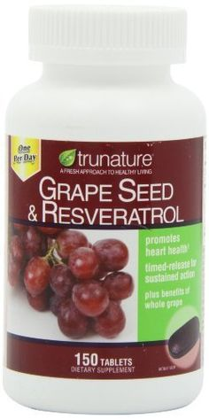 Find best price for trunature® Grape Seed & Resveratrol, with Vitamin C, 150 tablets, One per day Personal Healthcare / Health Care Grape Seed Extract, Vitamin C, Healthy Tips, Herbalism, Healthy Living, Health And Beauty, Seeds, Nutrition, Skin Care