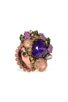 Erickson Beamon Amethyst Collage Ring