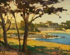 November in Pacific Grove by Brian Blood Oil ~ 11 x 14 Palm Desert California, Edward Norton, Art Projects, November, Blood, Landscape, Gallery, Drawings, Artist