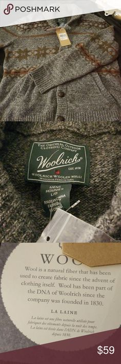 NWT Woolrich Ultra Line Fair Isle L This beautiful Men's Ultra Line Fair Isle Sweater from Woolrich is perfect to keep cozy in.  It is a size large and has a classic fit.  A cardigan like this will never go out of style.  Bundle to save for a greater discount and to only pay one shipping fee. There is always a special surprise gift in every order as well. Woolrich Sweaters Cardigan