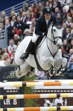Amy Graham of Australia on Bella Baloubet—second in the Grand Prix Hermès. Photo by Frédéric Chéhu