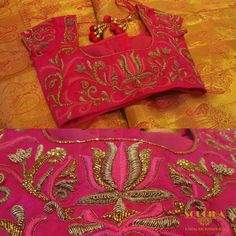 #Sareeblouse #soucika #bangalore #designersaree #embroidery #ethnicwear #saree #designerblouse #boutique #ladiesboutique