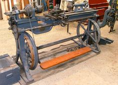 Treadle Powered Lathe this one is very cool