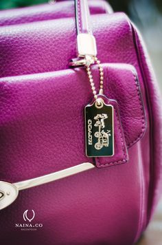 Color of the year 2014 by Pantone Radiant Orchid. Coach Madison Madeline handbag http://www.naina.co/photography/2013/12/radiant-orchid-pantone-coach/