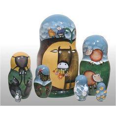 "Amazon.com: Gigantic Turnip Russian Nesting Doll 7pc./6"": Toys & Games"