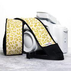 Gold Leopard Camera Strap dslr slr 238