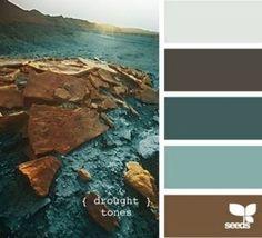 { drought tones } #colour #palette palette colori