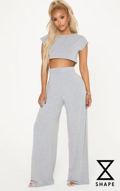 Adults Cool Cotton Summer Comfy Loungepants Marl Grey Green Elastic Waistband Bi