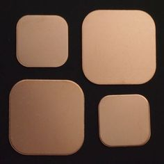 Rounded Square Copper Blanks in 2 Sizes and - 18 gauge - Extra Sturdy Jewelry Model, Jewelry For Her, Simple Jewelry, Modern Jewelry, Diy Jewelry Stamping, Stamped Jewelry, Small Diamond Rings, Grunge Jewelry, Platinum Earrings