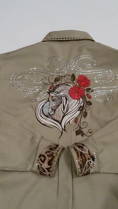Western shirt with Horse free embroidery design