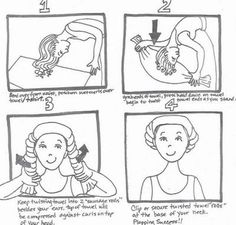 Or try this amazing plopping trick. | 13 Useful Tips For Dealing With Frizzy Hair