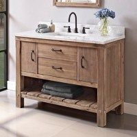 Farmhouse style is so popular. Here are 16 farmhouse style single sink vanities for your bathroom that can give you that awesome farmhouse feel.